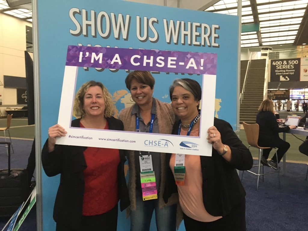 Nursing Professors Mindi Anderson, Laura Gonzalez and Desiree Díaz are among just 35 simulation educators worldwide who have earned advanced certification (CHSE-A) in the field.