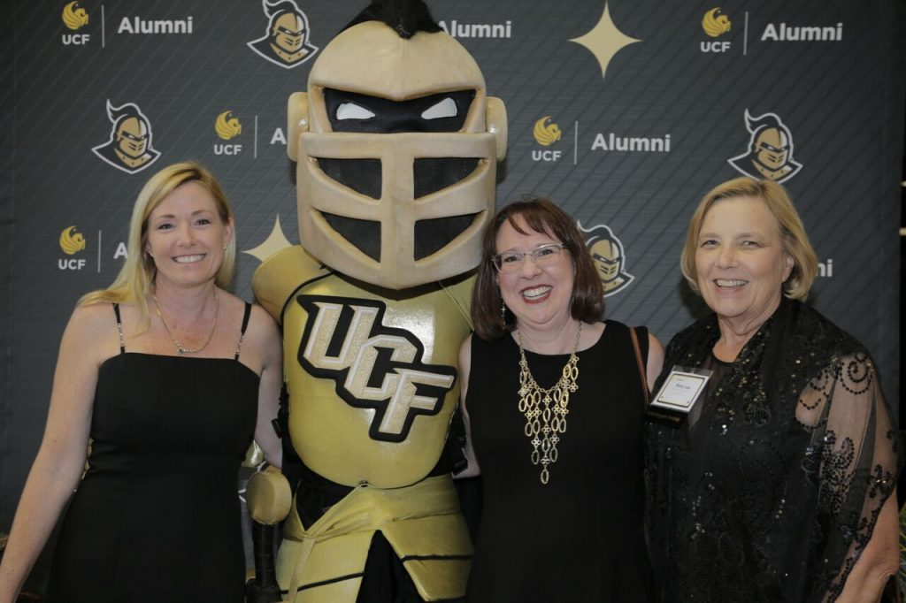 Knightro with nursing alumni