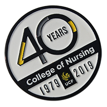 Commemorative Pin Celebrating 40 Years of Nursing Excellence at UCF
