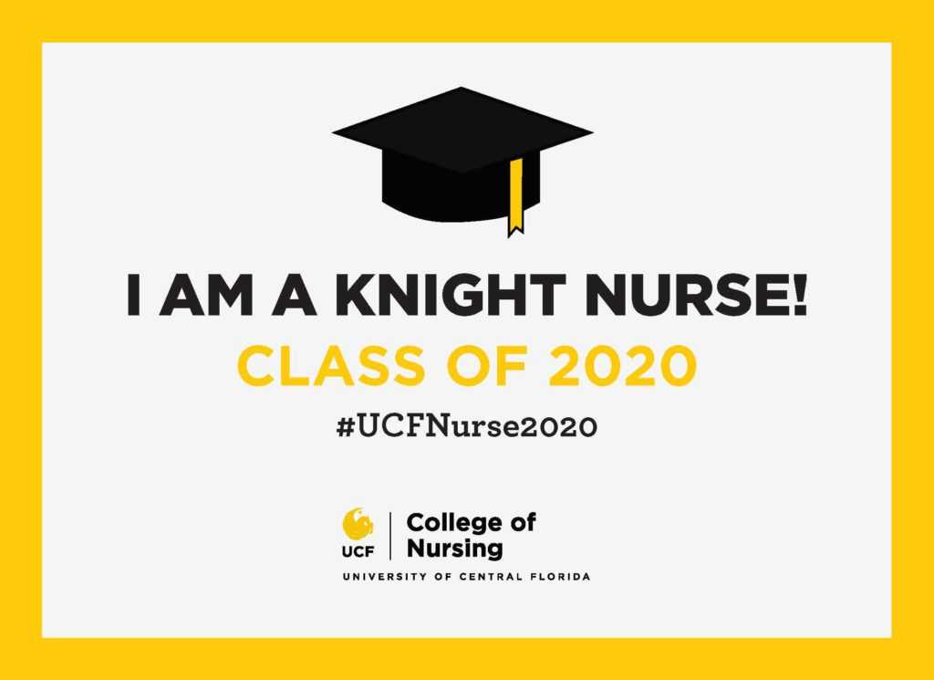 Printable I'm a Knight Nurse Class of 2020 #UCFNurse2020 Graphic