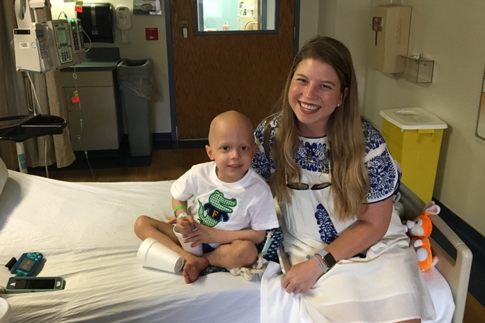 Annabeth with peds patient