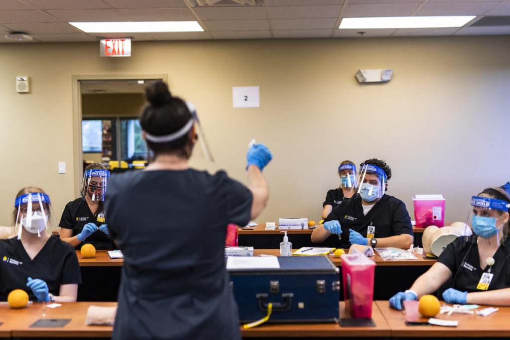 UCF Nursing Students Complete On-Campus Lab for 1st Time Since Pandemic