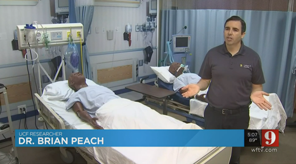 Dr. Brian Peach of UCF College of Nursing speaks to WFTV 9 on a new research study on post-ICU syndrome in COVID-19 patients